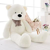 47inch Giant Big Huge White Teddy Bear Plush Stuffed Soft Toys dolls Xmas Gift