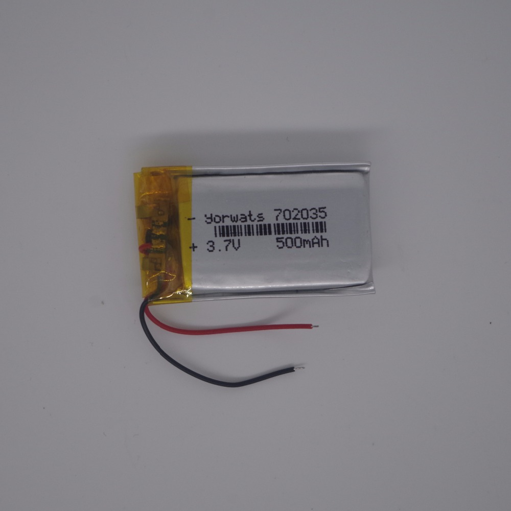 NEW lithium Polymer battery <font><b>500</b></font> <font><b>mah</b></font> <font><b>3.7</b></font> <font><b>V</b></font> 702035 smart home MP3 speakers Li-ion battery for dvr,GPS,mp3,mp4,cell phone,speaker image