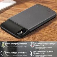 Комплекты внешних аккумуляторов + магнитная Функция чехол для iPhone х крышка оптовая продажа Роскошные жидкость смарт пустой чехол для телеф