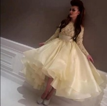 Neueste 2017 Top Celebrity Dress Myriam Fares Abendkleid Abendkleid Lace Perlen Langarm Teal Länge Partei-kleid EM04499