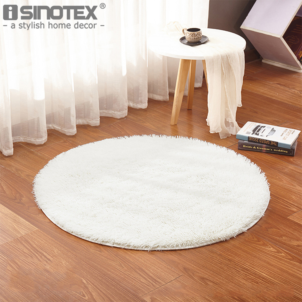 Cotton Carpet Living Room Dining Bedroom Area Rugs Anti: Shaggy Fluffy Rugs Anti Skid Bedroom Dining Area Rug Round