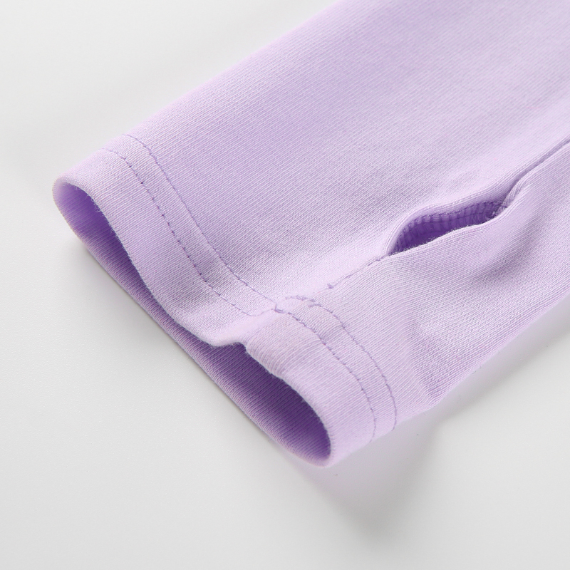 13Sweetown Harajuku Crop Top Long Sleeve Turtleneck T Shirt purple Korean fashion Style graphic tees Women Printed Kawaii Tshirt