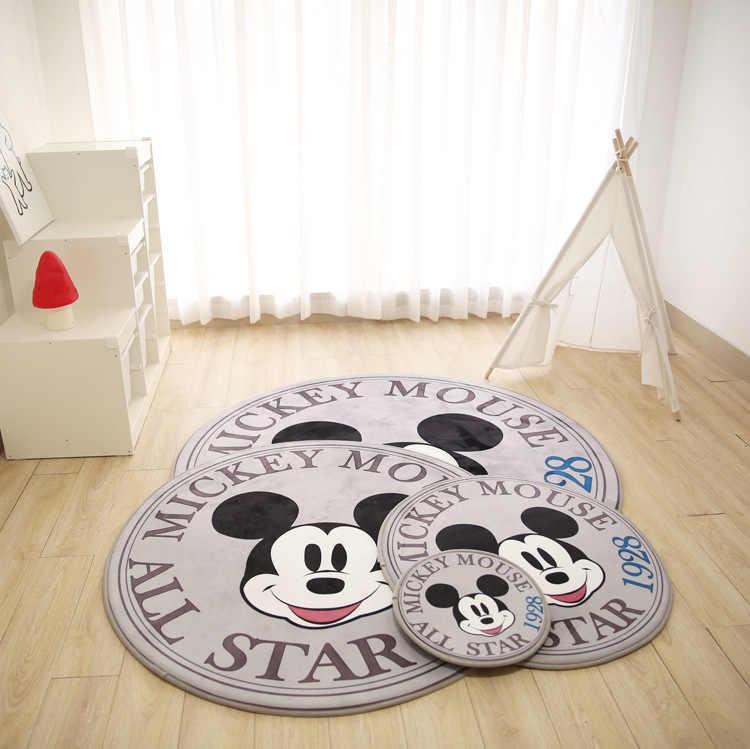 weiyibaobei Tapis Anime Dessin Anim/é Disney Mickey Mouse Chambre denfants Tapis De Jeu Mignon Chambre Chevet Sauvage Tapis Antid/érapant Lavable 60 90 Cm