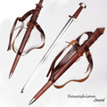 Medieval viking sword 1060 aço carbono completa tang lâmina artesanal profissional para a batalha 2016 nova venda