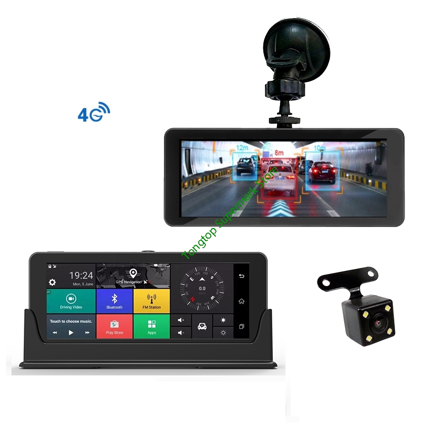 6 86 Touch 4G Android wifi GPS Full HD 1080P Video Recorder Dual Lens Registrar Dash