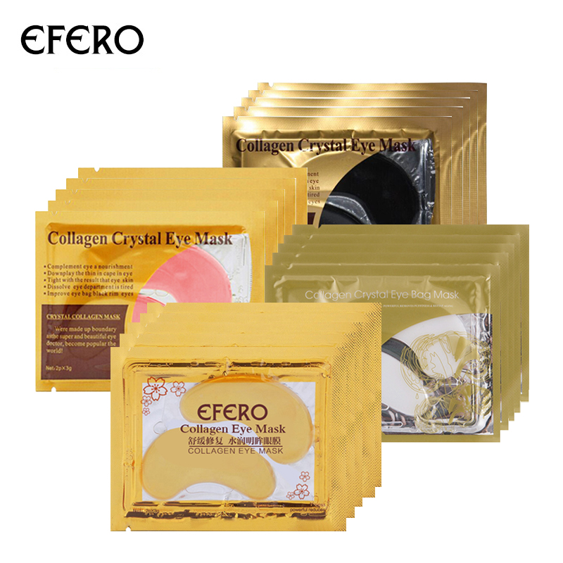Serum Golden Eye Mask Anti-Wrinkle Anti Aging Ageless Moisturizing Face Mask Collagen Eye Patches for the Eyes Care 5pair=10pcs