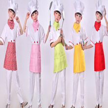 5PCS The Cook Chef Cosplay Shirt+Pants+Cap+Scarf+Apron Halloween Christmas Costume Anime Cosplay For Baby Girls Boys
