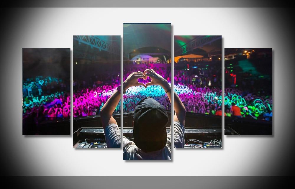 4078 casa DJ avicii gente corazón música cartel enmarcado galería ...