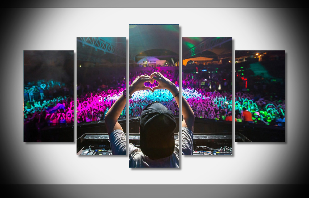 4078 house dj avicii heart people music Poster Framed Gallery wrap art print home wall decor wall picture Already to hang