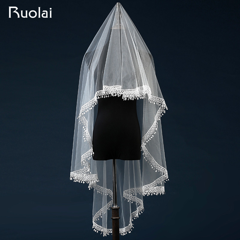 New Arrival Ivory Color Wedding Veils Bridal Veils M Long Short Wedding