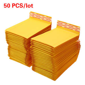 Mailers Envelopes-Bags Bubble-Mailing-Bag Kraft-Paper with 50pcs/Lot