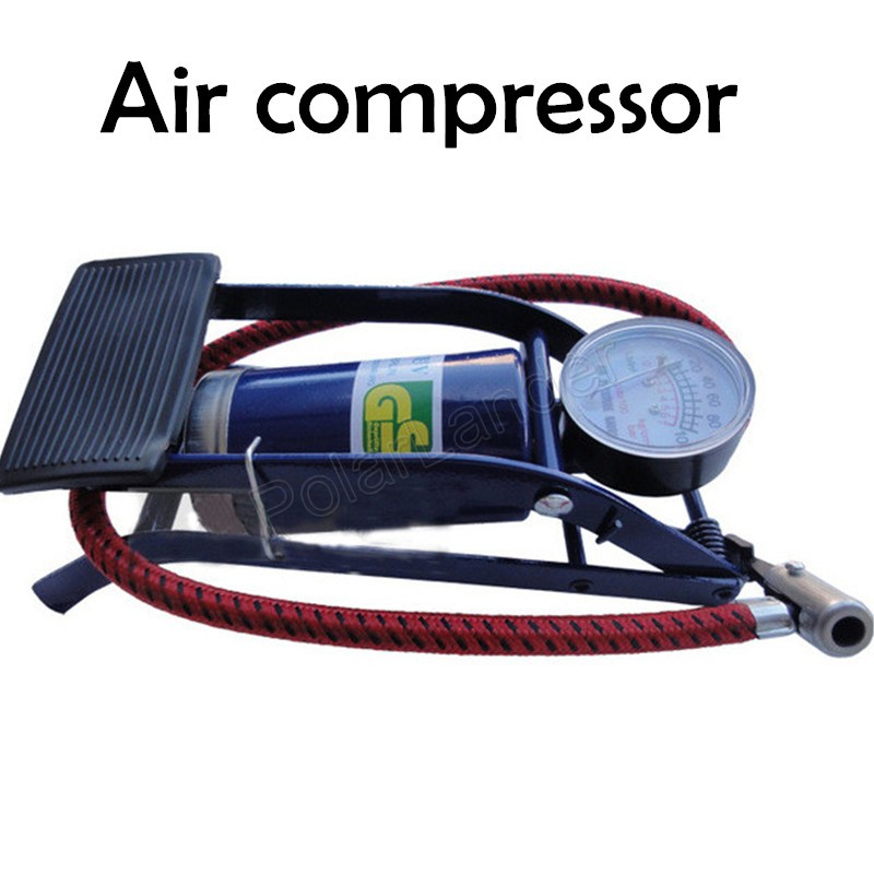 Easy To Use  Car Pump Air Compressor Car-styling Foot Air Pump 100PSI Car Vehicle Tires Bicycle Bike Motorbike Ball Inflator