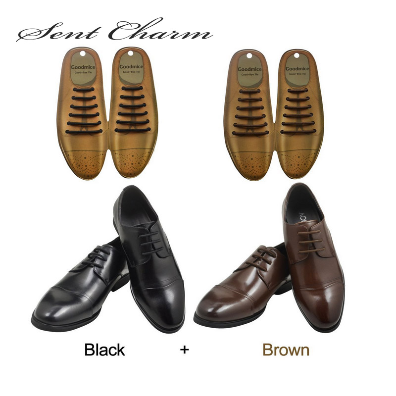 12Pcs Fashion Elastic Free Tying No Tie Lazy Silicone Shoelace Dress Shoe//Lac ES