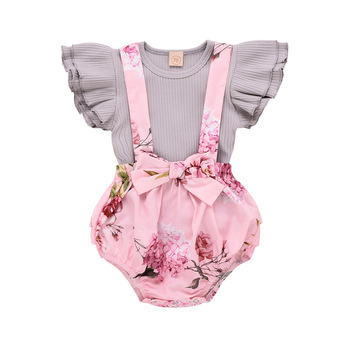 цена на Wisefin Spring Baby Girl Clothes Cotton Baby Outfits Set Fashion Baby Girl Summer Clothes O-Neck Infant Clothing Toddler Sets
