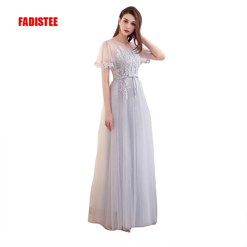 FADISTEE New arrival   Prom     Dresses   Long   dress   Vestido de Festa A-line appliques tulle party lace style   dress   formal evening frock