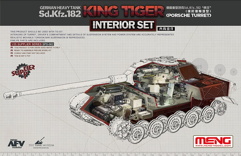 лучшая цена RealTS Meng Model SPS-062 1/35 Sd.Kfz.182 Pors che Turret King Tiger Interior Set