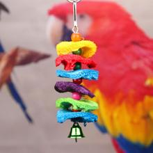 купить Large Medium and Small Parrots Bite String Loofah Hand Grab Bite Toy Swing Ladder дешево