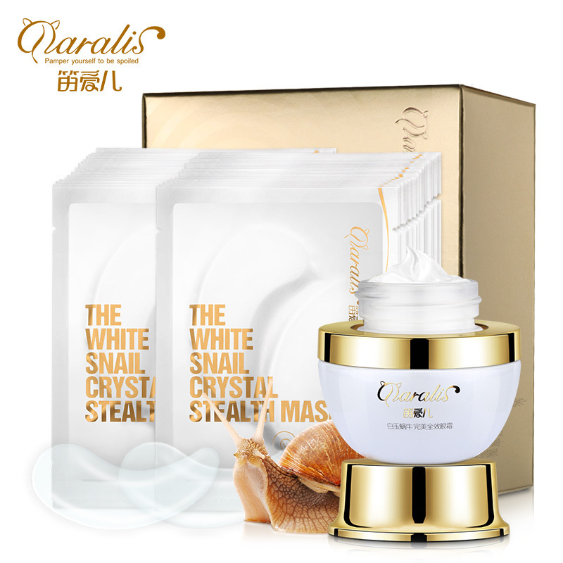 Snail Essence Eye Cream+Collagen Eye Mask Anti Wrinkle Aging Sleep Mask Dark Circles Eye Patche Mask To Face Skin Care Whitening hankey new brand snail essence face cream skin care whitening moisturizing oil control anti aging anti wrinkle natural beauty