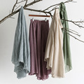 2016 New Fashion Linen Cotton Long Skirts Elastic Pleated Maxi Beach Summer large size Skirts  Fashion Brand Women Top quality