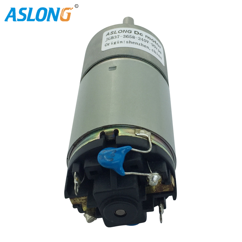 JGB37-3658D 240V 120V Micro DC GEAR Motor With 37mm metal gear box 120V DC Motor 8-1000rpm low noise low current image