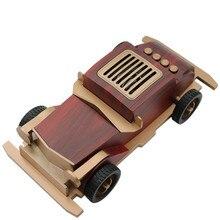 Altavoz bluetooth clásico Vintage para coche, diseño de madera, tarjeta de audio inalámbrica para teléfono móvil, tarjeta TF U disco AUX player subwoofer, altavoces MP3