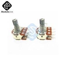 2PCS B10K Dual-Stereo-Potentiometer Poti Potentiometer Mit 16mm Welle Split 6 Pin