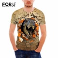 FORUDESIGNS 3D Animal Dinosaur Printing T Shirt Men Clothes Palace Tshirt Summer Breathable Short Sleeved Top Tees Man Soft Tops