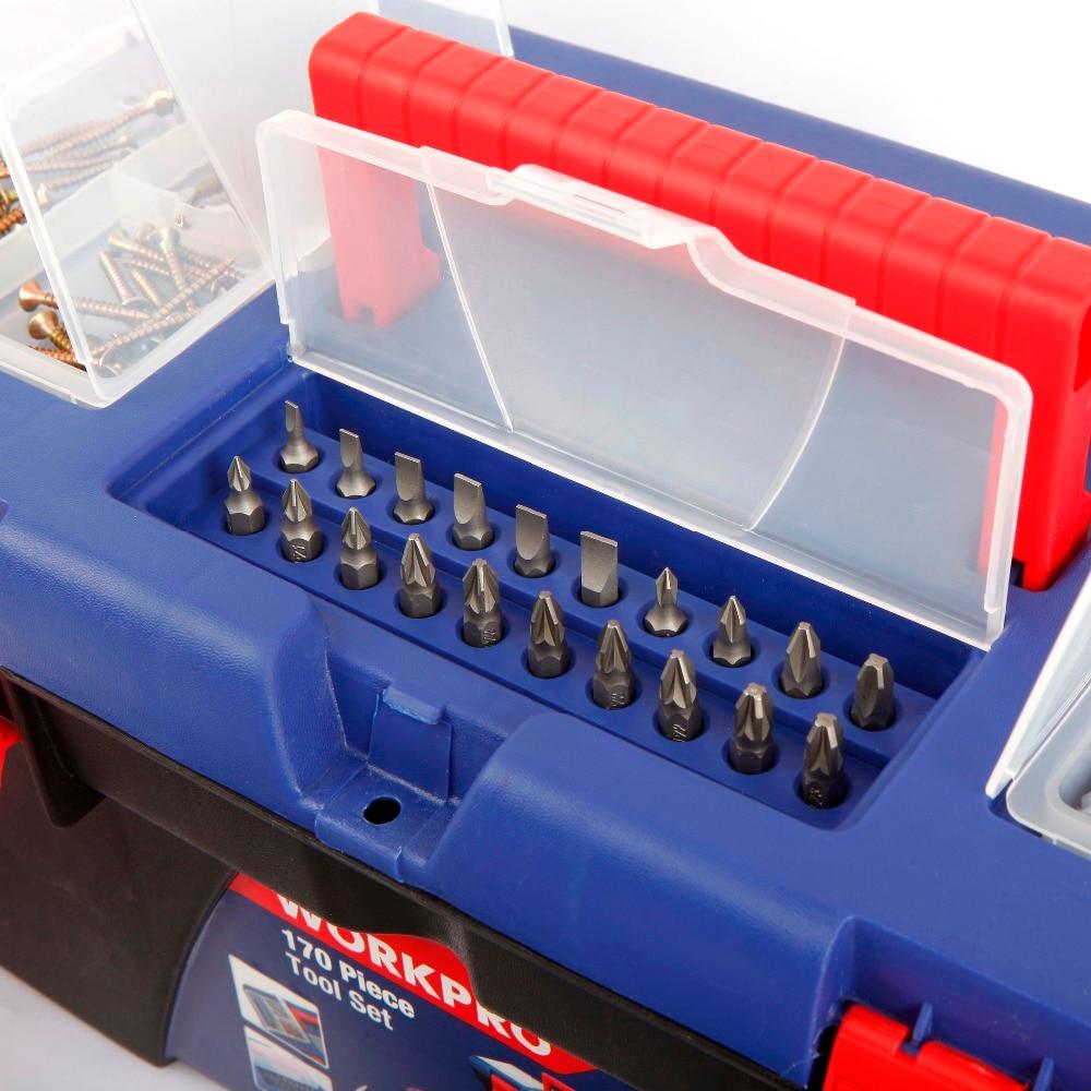 WORKPRO 170PC Juego de herramientas para el hogar Herramientas para - Juegos de herramientas - foto 2