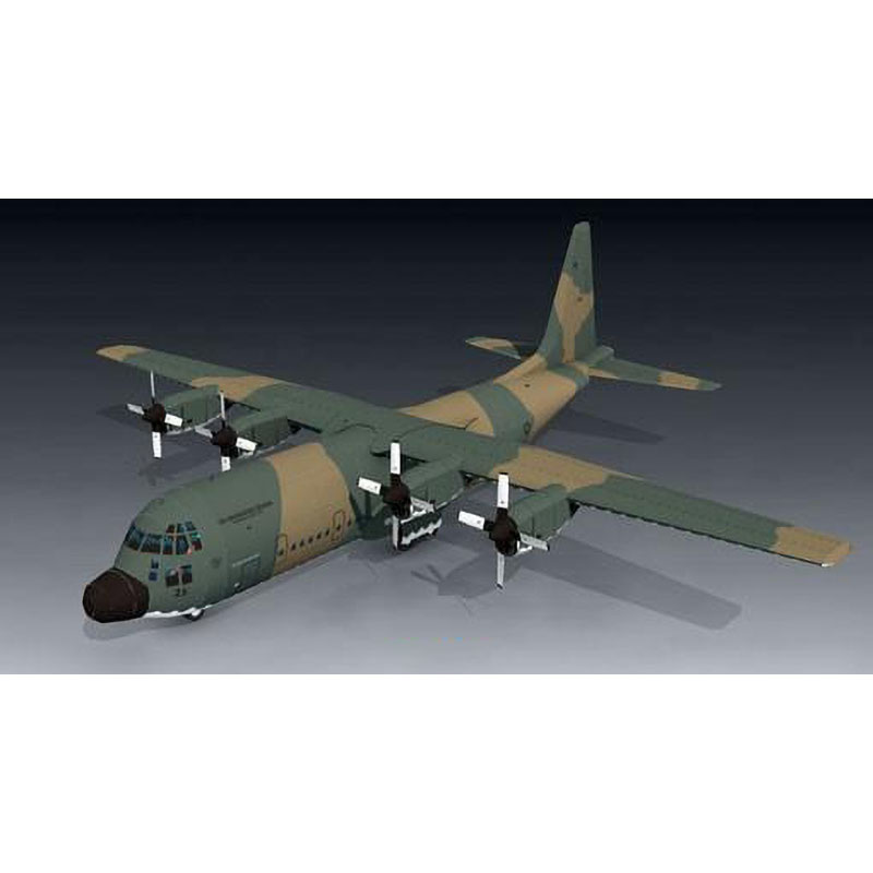 1:50 Big Size 3D C-130H Hercules Plane Aircraft Paper Model Assemble Hand Work Puzzle Game DIY Kids Toy