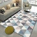 Скандинавские геометрические ковры для гостиной  домашний декор  ковер для спальни  диван  журнальный столик  ковер для кабинета  напольный ...