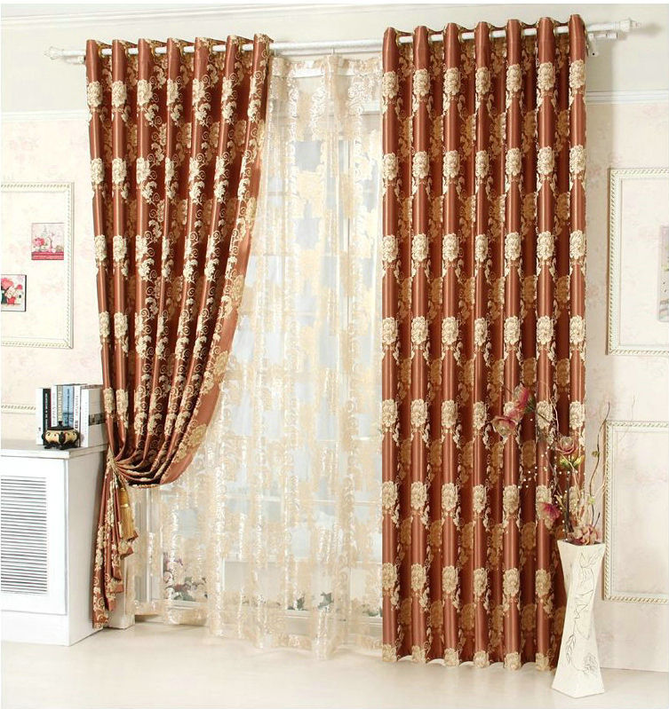 curtain floral drapes divider tulle room voile door curtains yellow panel scarf sheer itm window