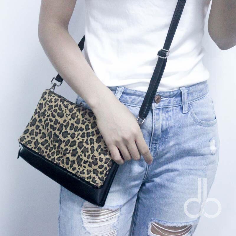 Leopard Foldable Clutch Wholsesale Blanks Patchwork Cheetah Crossbody Bag  Gift Shoulder Bag for Her DOM106642 2746b1392f601