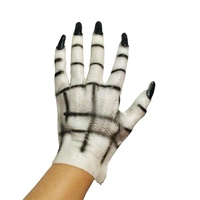 Halloween Ghost Gloves Horror Spooky Cosplay Props Demon Ghost Gloves Latex Dress Masquerade Adult Male And