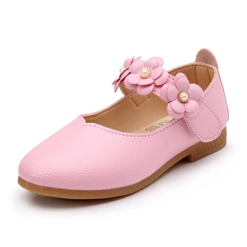 2017 neue Mädchen Leder Schuhe Kinder Mädchen Freizeitschuhe Turnschuhe Kinder Schuhe Kinder Blumen Prinzessin Fashion Party Schuhe Größe 21-36