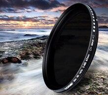 Новый 52 мм Тонкий Fader переменной ND2 к ND400 Регулируемая ND нейтральной плотности Серый Объектив Оптический Стекло фильтр
