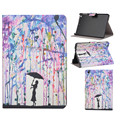 Hot selling Graffiti girl Pattern Flip Stand Leather Case Cover For iPad Mini 1 2 3 Jun.2
