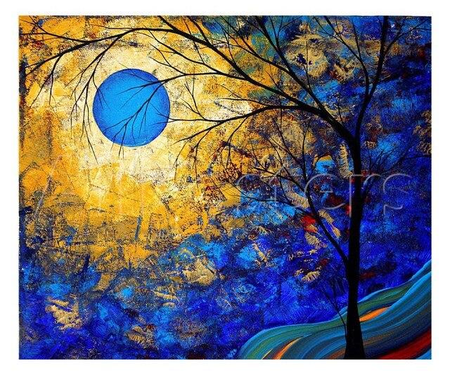 Geschenk Moderne Kunst Landschaft Renaissance Olgemalde Baume Schone Farbe Hohe Qualitat Handgemalte Ihr Wohnzimmer Schmucken