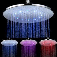 CY 8030 B6 Supernova Sale rainfull 10 Inches Brass 3 Colors Change Sprinkler Temperature Sensor Round LED Top Shower Heads