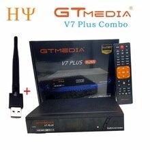 3 шт./лот GTMEDIA V7 PlUS 1080P Full HD DVB S/S2 + T/T2 поддержка H.265 4 значный светодиодный дисплей Поддержка PowerVu DRE & Biss key