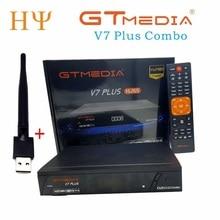 3 TEILE/LOS GTMEDIA V7 PlUS 1080P Volle HD DVB S/S2 + T/T2 Unterstützung H.265 4 digit led anzeige Unterstützung PowerVu DRE & Biss schlüssel