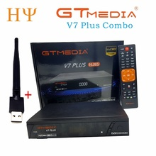 3PCS/LOT GTMEDIA V7 PlUS 1080P Full HD DVB S/S2+T/T2 Support H.265 4 digit LED display Support PowerVu DRE & Biss key