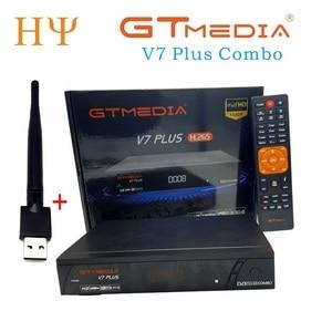 Image 1 - 3PCS/LOT GTMEDIA V7 PlUS 1080P Full HD DVB S/S2+T/T2 Support H.265 4 digit LED display Support PowerVu DRE & Biss key