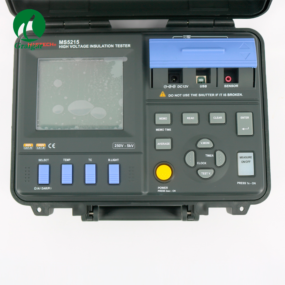 High Power MS5215 Digital Insulation Resistance Tester Built in Voltage Generator