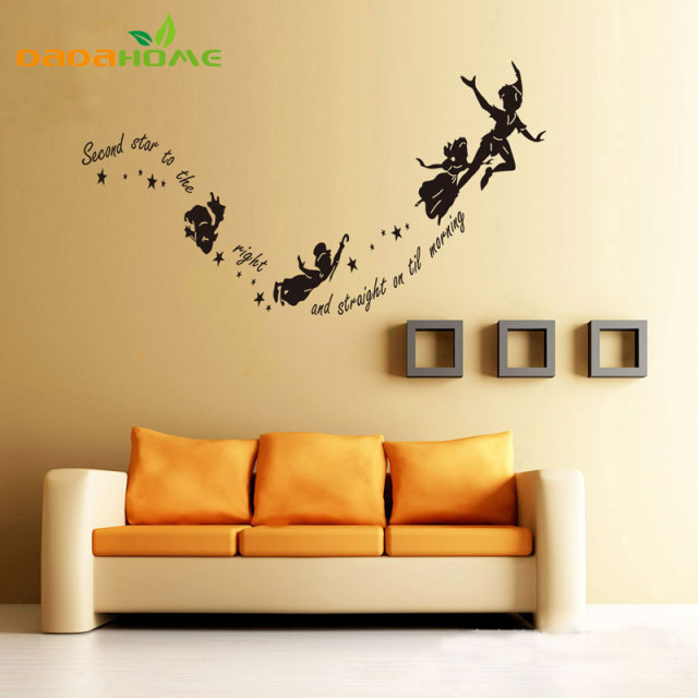Cartoons Anime Second Star To Kids Wall Stickers Home Decor Wall Art ...