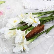 2pcs Silk Artificial Irish Iris Flower for Wedding Decor Home Table Decoration Flores Fake Flowers Fleurs Artificiell
