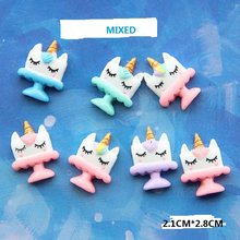 10PCS Mixed SLIME Charms Unicorn Cup DIY Accessories For SLIME Fillers Decoration Cute Resin Charms(China)