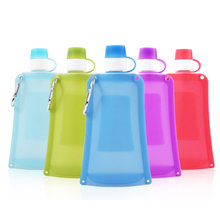 500ml Collapsible Silicone Bag with Hanging Ring Portable Be