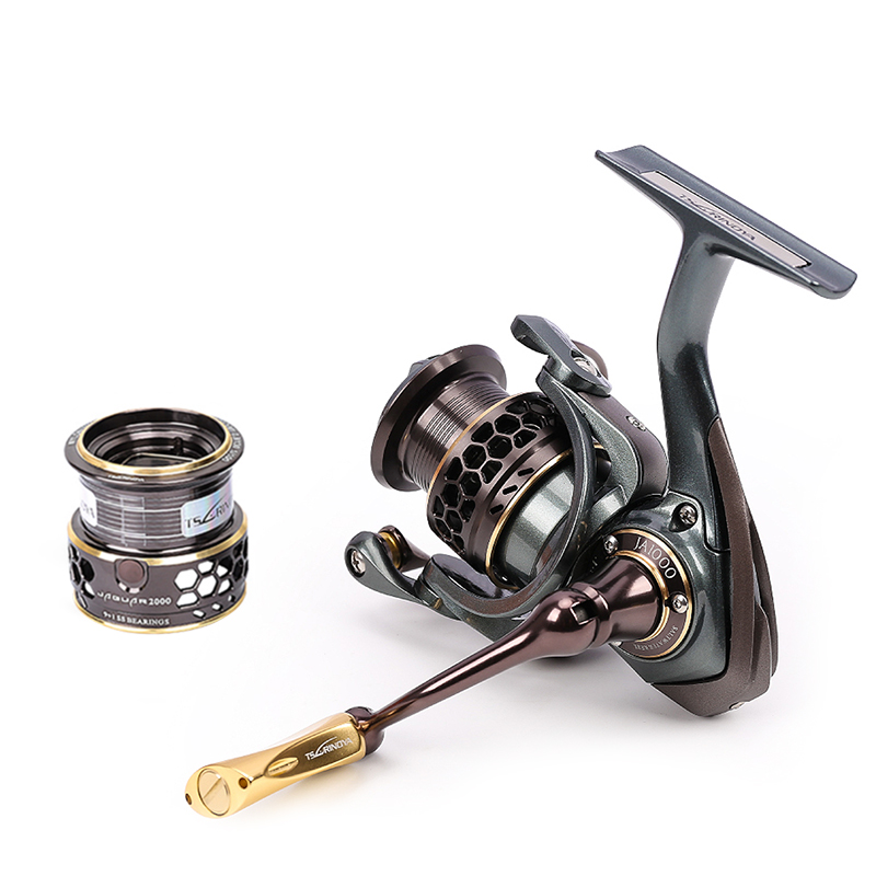 Double Diagonal Spool Spinning Reel with Stainless Steel Bearing for Ultra light Lure TSURINOYA Jaguar Series