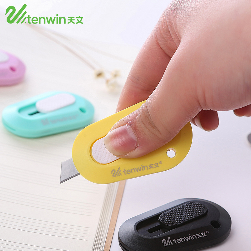 Cute Mini Plastic Utility Knife Colored Box Cutter Letter Paper Knifes For Decoration Kawaii Stationery Office School Supplies