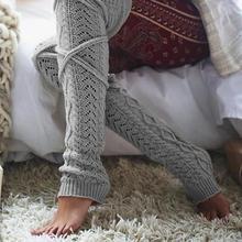 Зимние длинные теплые гетры; Вязаные гольфы; женские высокие носки; обтягивающие чулки для девочек; Polainas